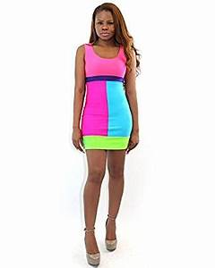 7twentyfour Candy Coated Neon Dress Junior Size at