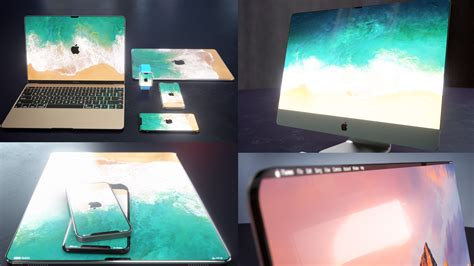 photos from iphone to macbook new renders imagine iphone x notch bezel design coming