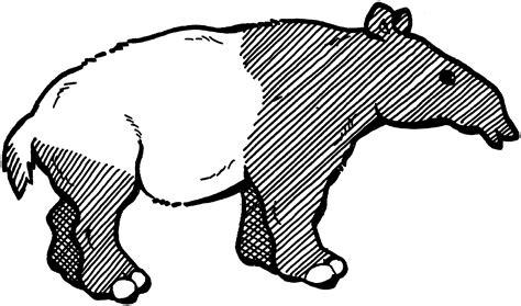 Free Tapir Coloring Pages
