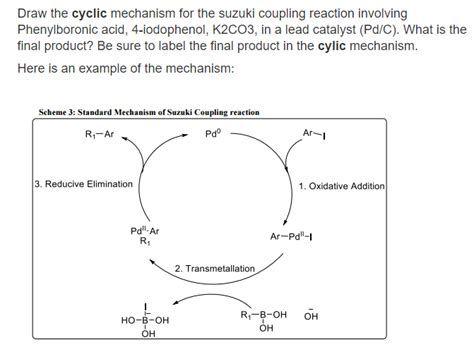 Suzuki Coupling Reaction by Solved Draw Cyclic Mechanism Of This Suzuki Coupling Reac