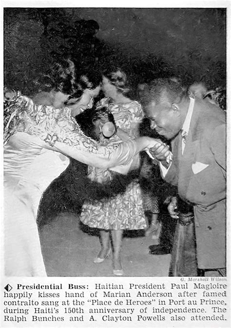 Marian Anderson Greeted by Haitian President Paul Magloire