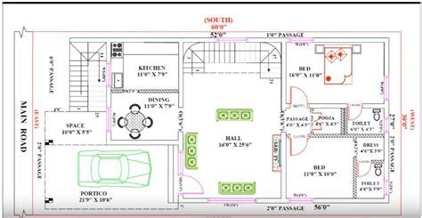 feet   single floor modern home plan