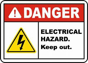 Danger Electrical Hazard Label by SafetySign.com - E3369