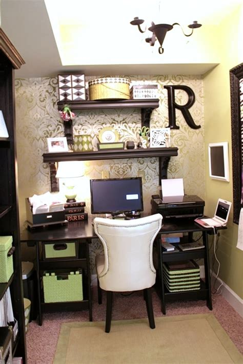 Ideas For Office At Work by Wallpapered Office Nook Southern Hospitality