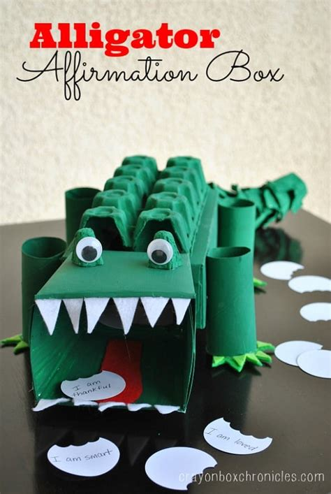 kid  project idea alligator affirmation box spaceships