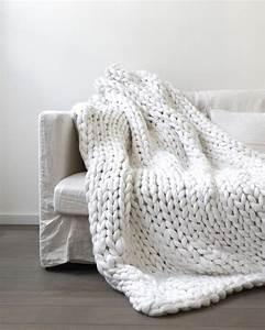 Tricoter Un Plaid En Grosse Laine : un plaid en tricot g ant xxl plaid tricot plaid et g ant ~ Melissatoandfro.com Idées de Décoration