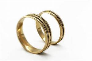 gold wedding ring sets braided bands wedding band for men With braided wedding ring