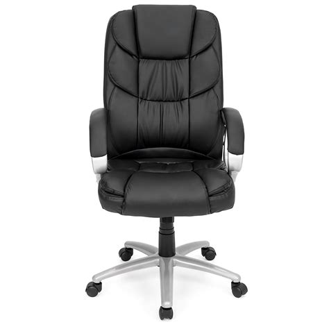 best choice products ergonomic pu leather high back office