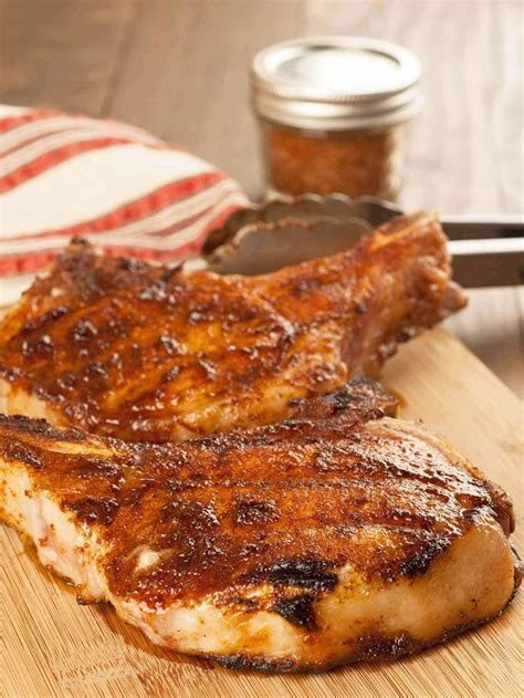 juicy grilled pork chops recipe mygourmetconnection