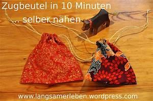 Adventskalender Säckchen Nähen Anleitung : zugbeutel in 10 minuten selber n hen langsamerleben ~ Lizthompson.info Haus und Dekorationen