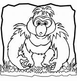 Gorilla Coloring Pages Printable Oleh Diposting Admin Di Getcolorings sketch template
