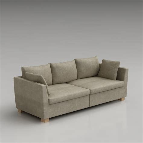 Ikea Küchen Dwg by 3d Ikea Stockholm Sofa High Quality 3d Models