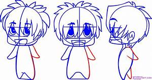 Draw Chibi Anime, Step by Step, Drawing Sheets, Added by ...