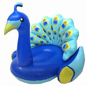 Swimline Giant Inflatable Peacock Swimming Pool Float with ...