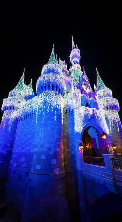 Disney Christmas Iphone Phone Wallpapers Castle Disneyland