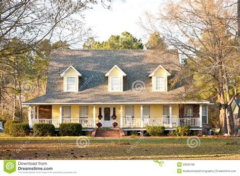 two colonial house plans yellow style home stock photo image of dormer
