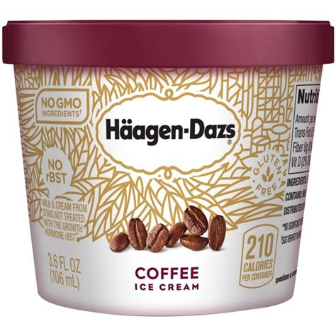 Seeing as haagen dazs usually makes an extremely hard ice cream, this softer texture was a nice change. HAAGEN-DAZS Ice Cream, Coffee, 3.6 Fl. Oz. Cup | No GMO Ingredients | No rBST | Gluten Free ...