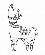 Llama Coloring Creative Tsgos sketch template