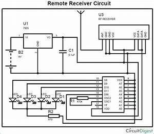 Rf Remote Receiver Circuit Diagram