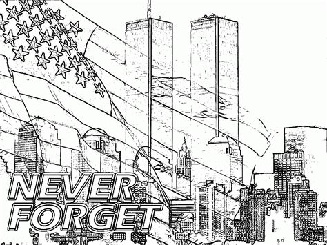 9 11 Coloring Pages Kids