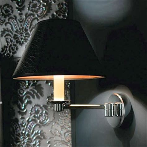 imperial brokton wall light with black leather shade uk