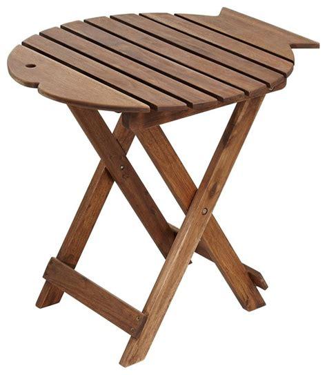 beach wood coffee table coastal monterey fish natural wood outdoor folding table
