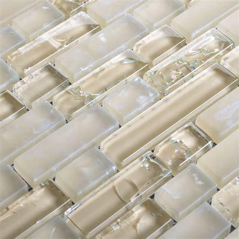 Frosted Glass Backsplash For Kitchen Walls Beige Ice Crack