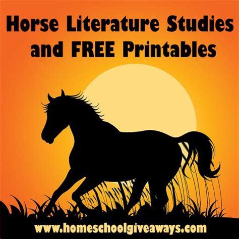 horse literature studies  printables