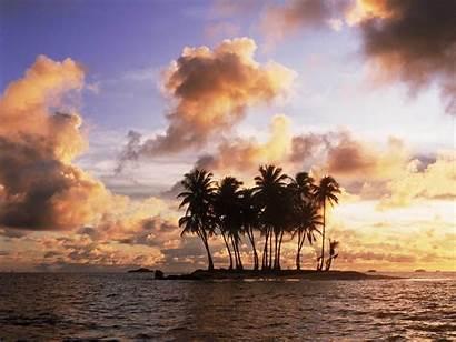 Sunset Island Wallpapers Desktop Backgrounds Background Sun