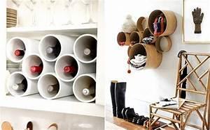 Tubos de cartón reciclados, ideas decorativas Paperblog
