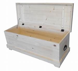 Coffre Jouet Blanc : coffre jouets en pin massif 120cm de large ~ Teatrodelosmanantiales.com Idées de Décoration