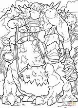 Coloring Orc Pages Raider Printable Drawing Dot Dots sketch template