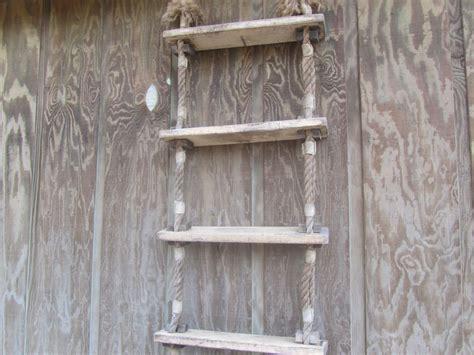 Vintage Boat Ladder by Vintage Ladder Rope Ladder Wall Shelf Boat Ladder