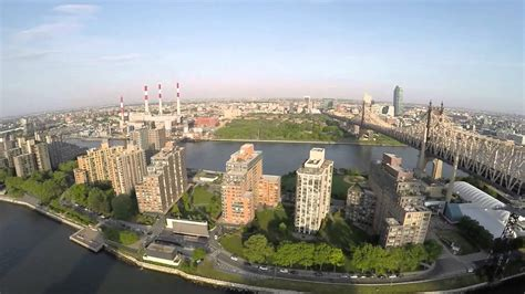 Queens Bridge New York City From A Drone Youtube