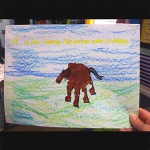 letter h handprint school handprint art pinterest With horse letter art