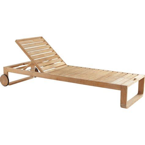 plan de chaise longue en bois bain de soleil de jardin en bois resort naturel leroy merlin