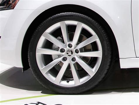 cool skoda alloy wheel collection  arrived