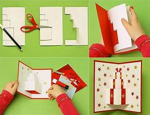 carte pop up noel a fabriquer et decorer soi meme With wonderful plan maison avec tour 14 que faire avec ses photos