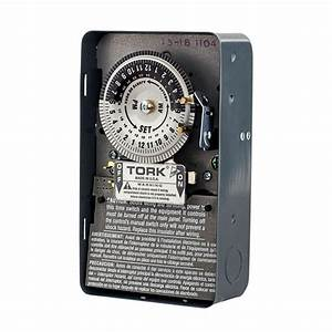 Tork 208-277-volt 24-hour Mechanical Time Switch-1104b