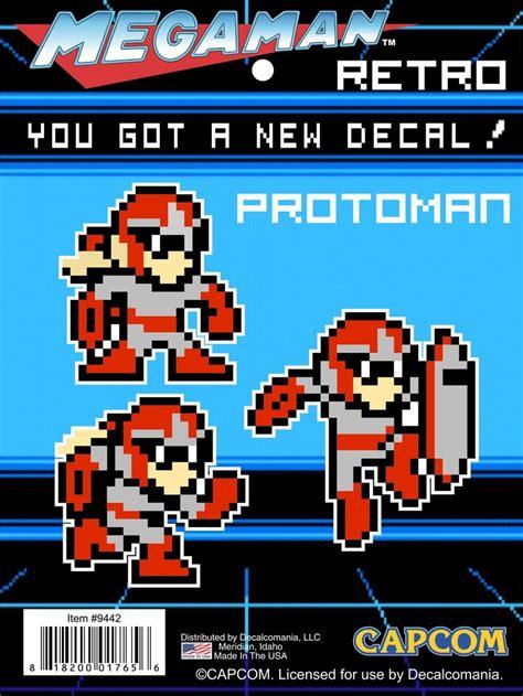 Mega Man 8 Bit Proto Man Decal Car Sticker Perler Beads