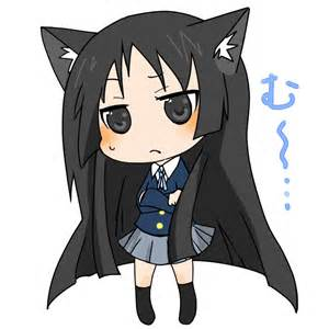 Chibi Anime Girl with Cat Ears