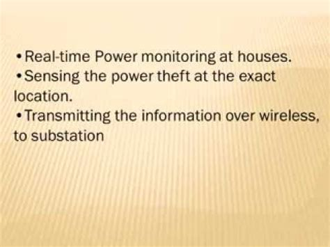 Wireless Power Theft Monitoring With Automatic Circuit