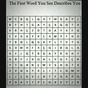 First Word You See Describes You
