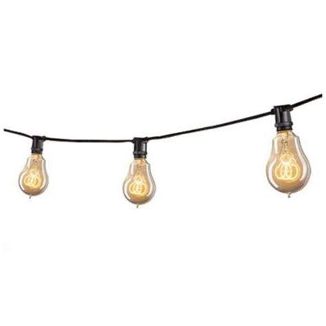 bulbrite 15 light black outdoor string work light set