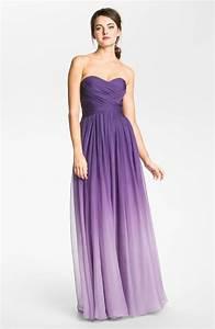 la femme ombre sweetheart chiffon gown in purple majestic With purple ombre wedding dress