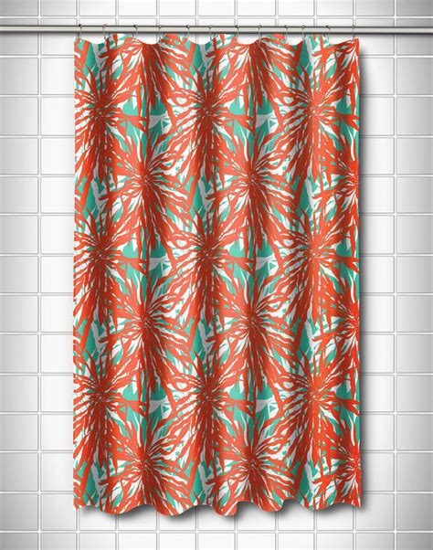 17 best ideas about coral shower curtains on