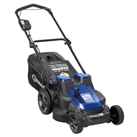 battery operated ls lowes shop kobalt 40 volt max lithium ion li ion 20 in deck