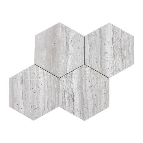 wooden gray honed   hexagon tile patara stone