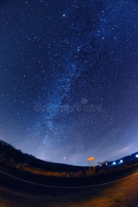 Starry Night Road Stock Images Download Royalty