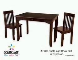kidkraft avalon chair espresso 16650 kidkraft avalon table and 2 chair set in espresso 26651